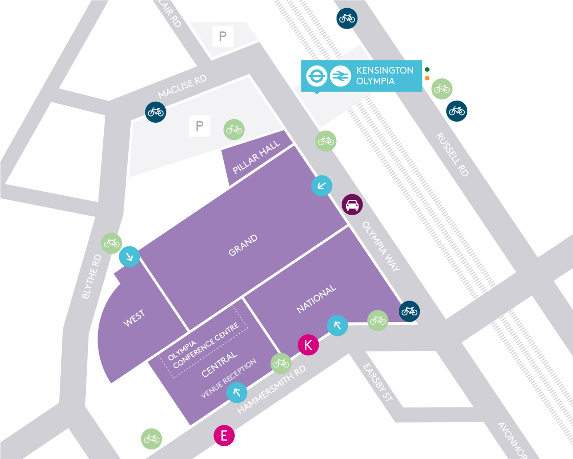 Explore the cycle routes around Olympia London