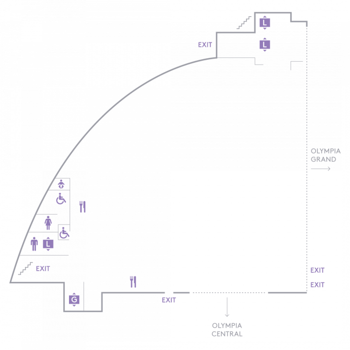 Floorplan of Olympia West Level One